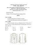 Đề thi lý thuyết May & thiết kế thời trang năm 2011 (Mã đề TH7)