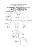 Đề thi lý thuyết May & thiết kế thời trang năm 2011 (Mã đề TH1)