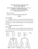 Đề thi lý thuyết May & thiết kế thời trang năm 2011 (Mã đề TH10)