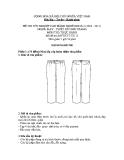 Đề thi thực hành May & thiết kế thời trang năm 2011 (Mã đề TH13)