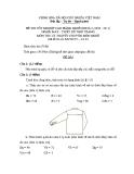 Đề thi lý thuyết May & thiết kế thời trang năm 2011 (Mã đề TH2)