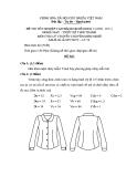 Đề thi ý thuyết May & thiết kế thời trang năm 2011 (Mã đề TH50)