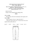 Đề thi lý thuyết May & thiết kế thời trang năm 2011 (Mã đề TH16)