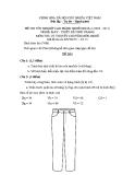 Đề thi lý thuyết May & thiết kế thời trang năm 2011 (Mã đề TH13)