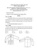 Đề thi lý thuyết May & thiết kế thời trang năm 2011 (Mã đề TH12)