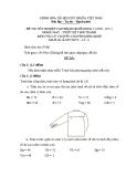 Đề thi lý thuyết May & thiết kế thời trang năm 2011 (Mã đề TH11)