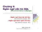 Bài giảng Hệ quản trị cơ sở dữ liệu: Chương 4 - GV. Đặng Thị Kim Anh