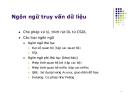 Bài giảng Hệ quản trị cơ sở dữ liệu: Chương 5 - GV. Đặng Thị Kim Anh