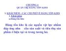 Bài giảng Quản trị sản xuất - Chương 4: Quản trị hàng tồn kho
