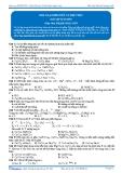 Luyện thi Đại học Kit 1 - Môn Hóa: Kim loại kiềm thổ và hợp chất (Bài tập tự luyện)