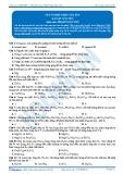 Luyện thi Đại học Kit 1 - Môn Hóa: Sắt và hợp chất của sắt (Bài tập tự luyện)