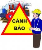 Đề cương bài giảng An toàn vệ sinh công nghiệp: Bảo hộ lao động
