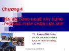 Bài giảng Kinh tế xây dựng: Chương 4 - Lương Đức Long