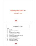 Bài giảng Ngôn ngữ lập trình C++: Chương 3 - Trần Minh Châu