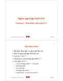 Bài giảng Ngôn ngữ lập trình C++: Chương 1 - Trần Minh Châu