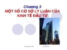 Bài giảng Kinh tế xây dựng: Chương 3 - Lương Đức Long