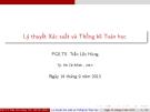 Bài giảng Lý thuyết xác suất và thống kê toán học: Chương 3 - PGS.TS. Trần Lộc Hùng
