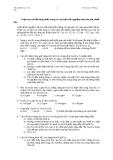 125 Câu trắc nghiệm Hóa vô cơ có đáp án
