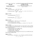 Đề thi & đáp án tuyển sinh lớp 10 môn Toán năm 2013-2014 - Sở GD & ĐT Đăk Lăk