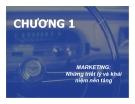 Bài giảng Chiến lược Marketing - Chương 1: Marketing những triết lý và khái niệm nền tảng