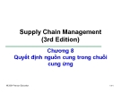 Bài giảng Quản trị chuỗi cung ứng - Chương 8: Quyết định nguồn cung trong chuỗi cung ứng