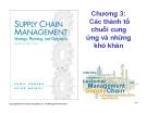Bài giảng Quản trị chuỗi cung ứng - Chương 3: Các thành tố chuỗi cung ứng và những khó khăn