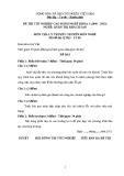 Đề thi & đáp án lý thuyết Quản trị khách sạn năm 2012 (Mã đề LT9)