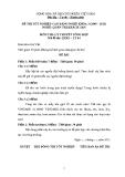 Đề thi & đáp án lý thuyết Quản trị khách sạn năm 2012 (Mã đề LT4)