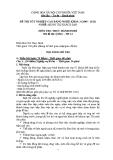 Đề thi thực hành Quản trị khách sạn năm 2012 (Mã đề TH12)