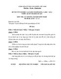 Đề thi & đáp án lý thuyết Quản trị khách sạn năm 2012 (Mã đề LT15)
