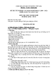 Đề thi thực hành Quản trị khách sạn năm 2012 (Mã đề TH4)