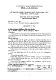 Đề thi thực hành Quản trị khách sạn năm 2012 (Mã đề TH1)