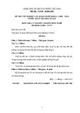 Đề thi & đáp án lý thuyết Quản trị khách sạn năm 2012 (Mã đề LT7)