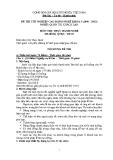 Đề thi thực hành Quản trị khách sạn năm 2012 (Mã đề TH5)