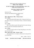 Đề thi & đáp án lý thuyết Quản trị khách sạn năm 2012 (Mã đề LT3)