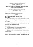Đề thi & đáp án lý thuyết Quản trị khách sạn năm 2012 (Mã đề LT5)