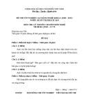 Đề thi & đáp án lý thuyết Quản trị khách sạn năm 2012 (Mã đề LT50)