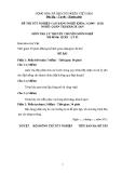 Đề thi & đáp án lý thuyết Quản trị khách sạn năm 2012 (Mã đề LT2)