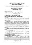 Đề thi thực hành Quản trị khách sạn năm 2012 (Mã đề TH2)