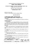 Đề thi thực hành Quản trị khách sạn năm 2012 (Mã đề TH15)