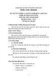 Đề thi thực hành Kỹ thuật xây dựng năm 2012 (Mã đề TH11)