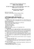 Đề thi thực hành Quản trị khách sạn năm 2012 (Mã đề TH8)
