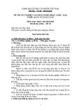 Đề thi thực hành Quản trị khách sạn năm 2012 (Mã đề TH18)