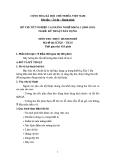 Đề thi thực hành Kỹ thuật xây dựng năm 2012 (Mã đề TH10)