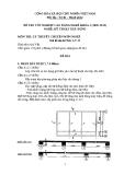 Đề thi lý thuyết Kỹ thuật xây dựng năm 2012 (Mã đề LT25)