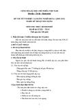 Đề thi thực hành Kỹ thuật xây dựng năm 2012 (Mã đề TH5)