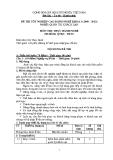 Đề thi thực hành Quản trị khách sạn năm 2012 (Mã đề TH10)