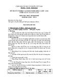 Đề thi thực hành Quản trị khách sạn năm 2012 (Mã đề TH14)