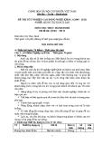 Đề thi thực hành Quản trị khách sạn năm 2012 (Mã đề TH11)