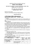 Đề thi thực hành Quản trị khách sạn năm 2012 (Mã đề TH7)